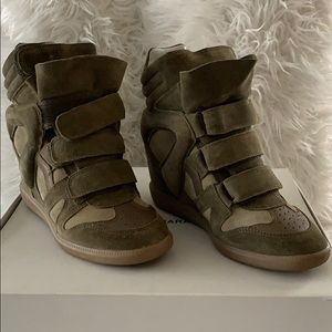 Isabel Marant Over Basket High-Top Sneaker Size 37